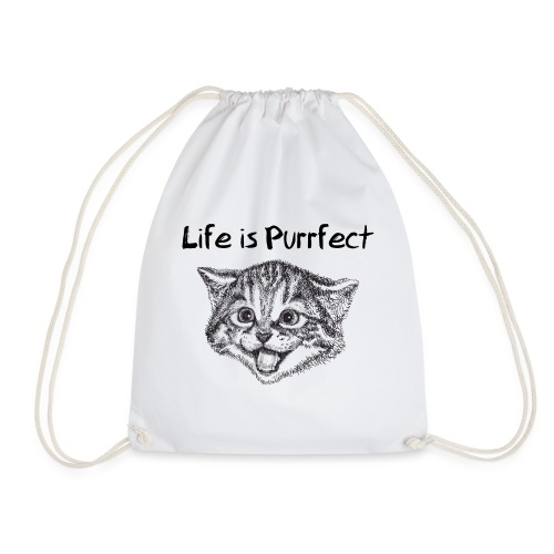 Life is Purrfect - Turnbeutel