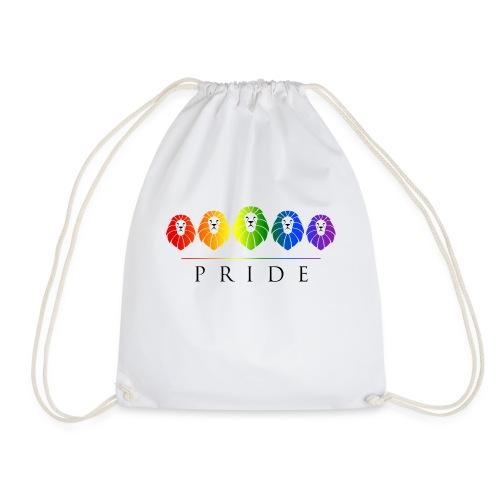 Gay Pride of Lions - LGBT Rainbow - Drawstring Bag