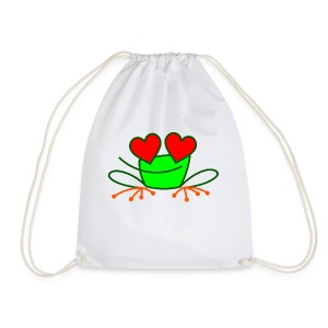 Frog in Love - Drawstring Bag