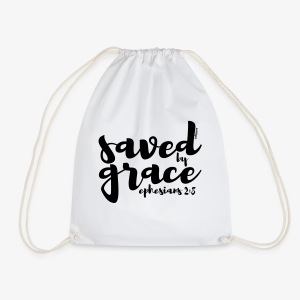Saved by Grace - Ephesians 2: 8 - Drawstring Bag