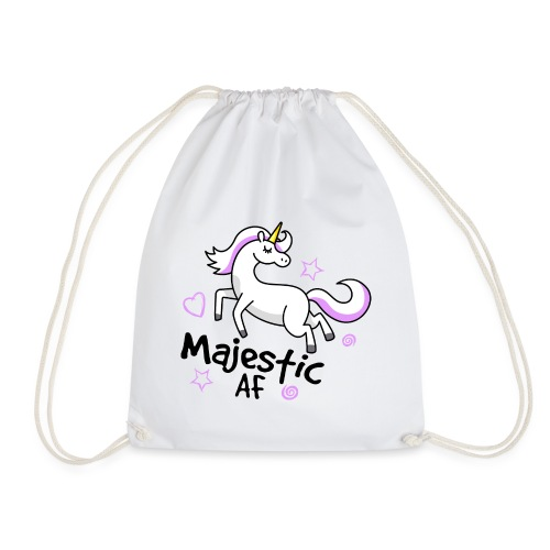 Majestic AF Unicorn - Drawstring Bag