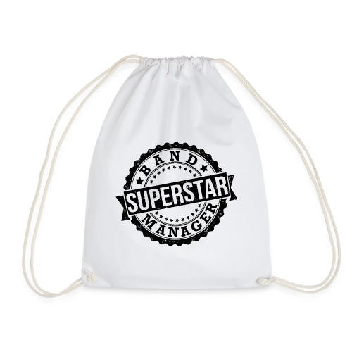 Superstar Band Manager Logo Black - Drawstring Bag