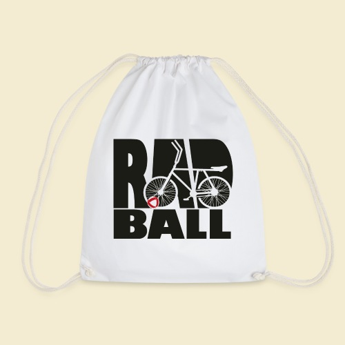 Radball | Typo Black - Turnbeutel