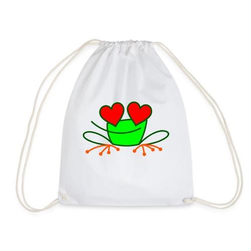 Frog in Love - Drawstring Bag