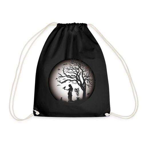 Halloween Silhouette s w - Turnbeutel