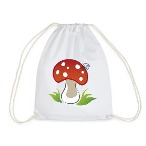 Mushroom - Symbols of Happiness - Drawstring Bag