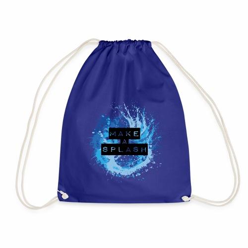 Make a Splash - Aquarell Design in Blau - Turnbeutel