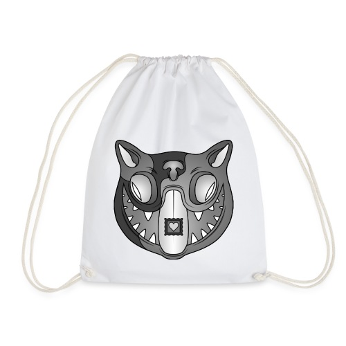 Acid Cat B / W - Drawstring Bag
