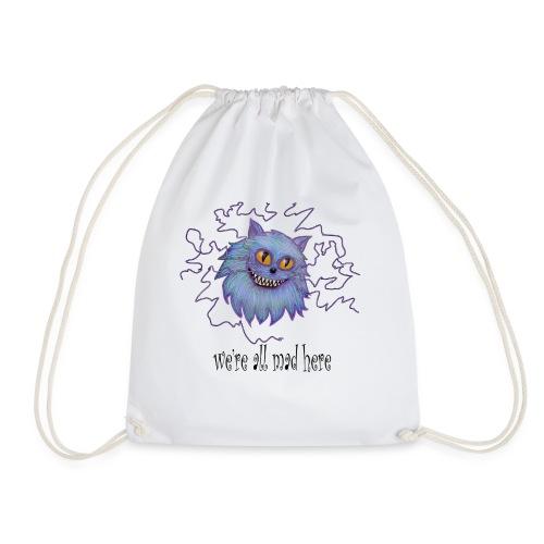 cheshire cat - Drawstring Bag