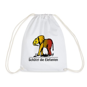 Schützt die Elefanten(-Kinder) - Turnbeutel