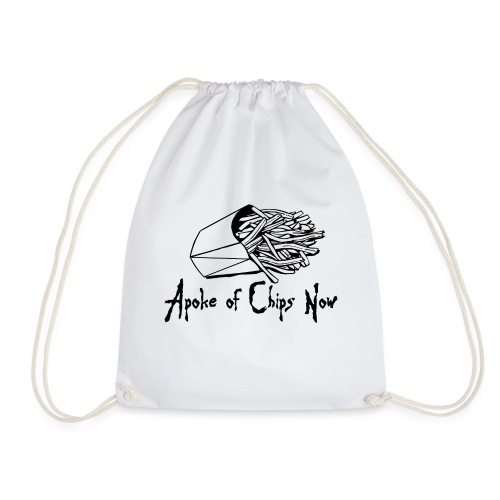 A Poke of Chips Now - Drawstring Bag