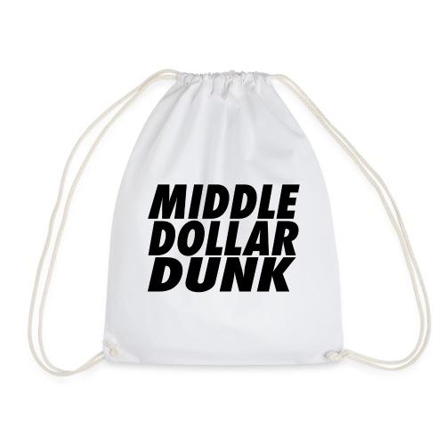 middle dollar dunk logo - Drawstring Bag