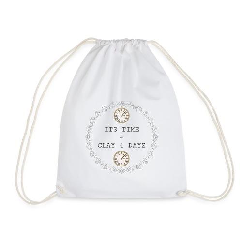 CLAY 4 DAYZ: ITS TIME 4 CLAY 4 DAYZ (WHITE) - Drawstring Bag