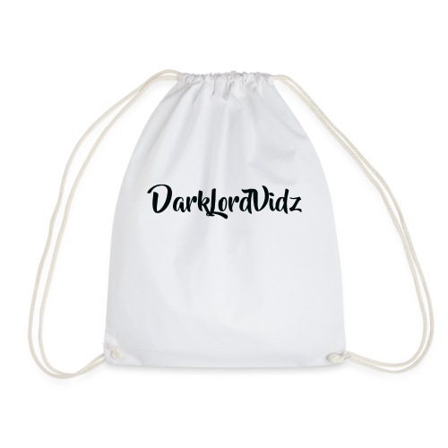 DarklordVidz Black Logo - Drawstring Bag