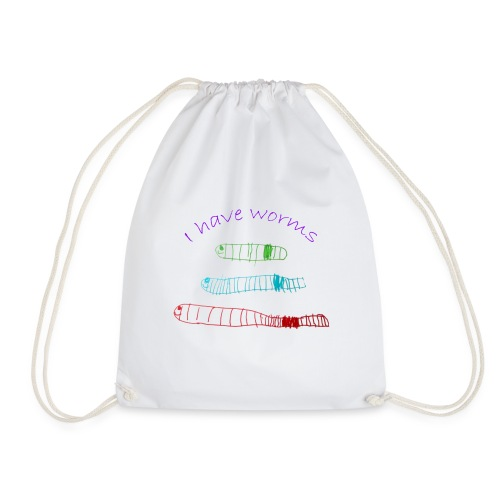 I have worms - Drawstring Bag