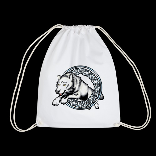Leaping Wolf - Drawstring Bag