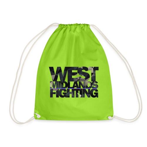 low poly on light - Drawstring Bag