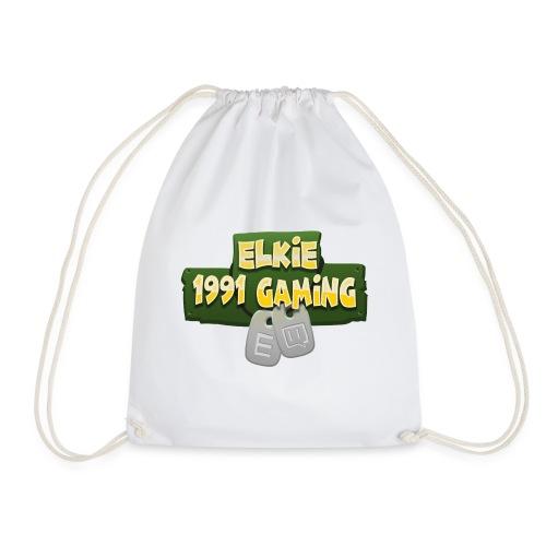Elkie1991 Gaming Logo - Drawstring Bag