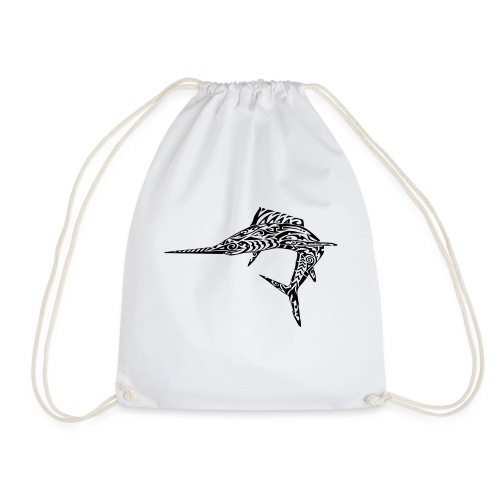 The Black Marlin - Drawstring Bag