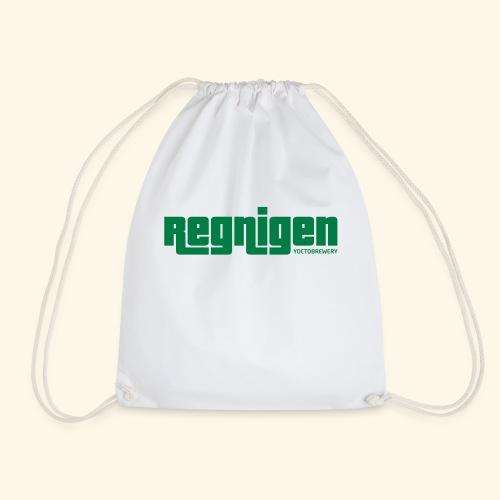 Regnigen logo greygreen - Gymnastikpåse