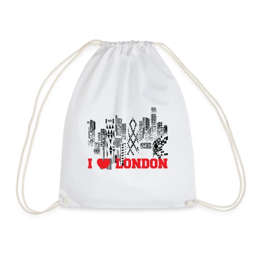 I LOVE LONDON SKYCRAPERS - Mochila saco