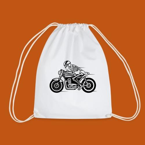 Cafe Racer Motorrad 05_schwarz - Turnbeutel