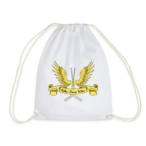 Who Saves Wins, Hockey Goalie - Drawstring Bag