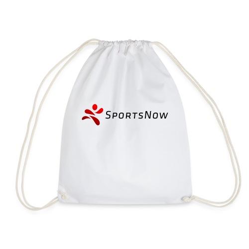SportsNow-Logo mit schwarzer Schrift - Turnbeutel