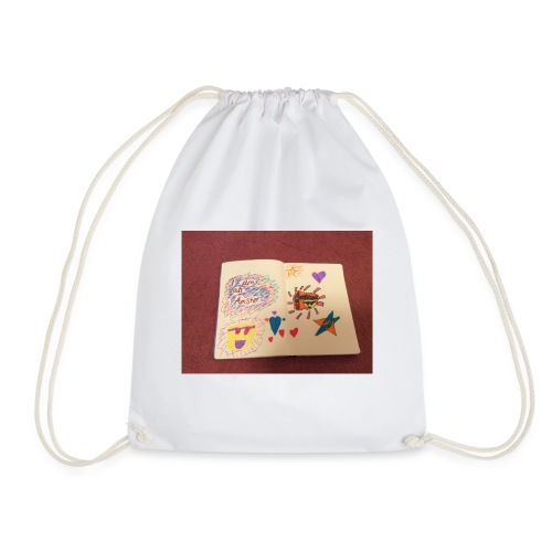 I am a Amster or Awesome Amy logo - Drawstring Bag