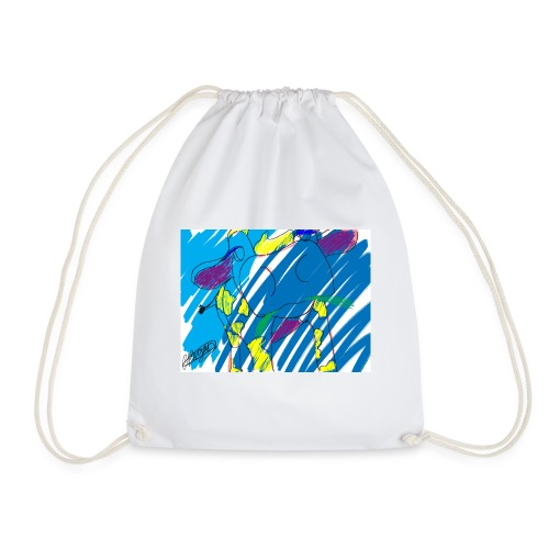 Signed Rainbow Cow - Drawstring Bag