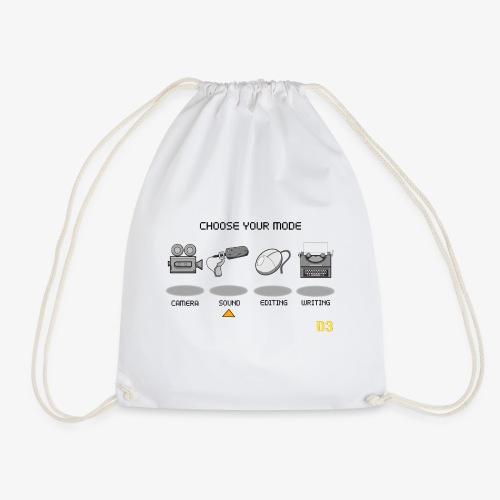 Sound/Black- Choose Your Mode - Drawstring Bag