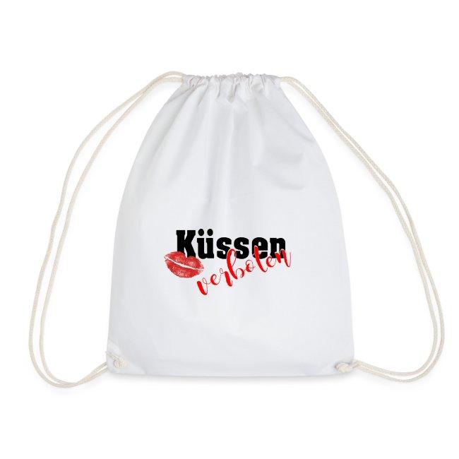 Küssen verboten - Kussmund - Mundschutz