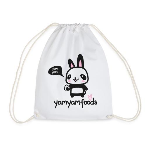 Panda-Hase mit Onigiri - Turnbeutel