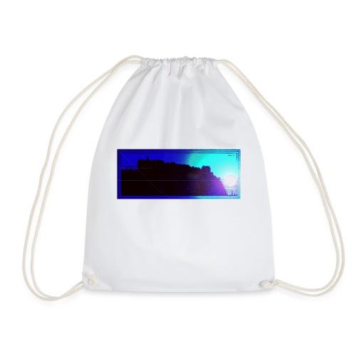 Silhouette of Edinburgh Castle - Drawstring Bag
