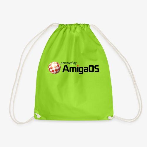 PoweredByAmigaOS Black - Drawstring Bag