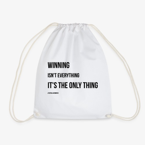 Football Victory Quotation - Drawstring Bag