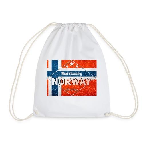 Best Cuntry NORWAY - Drawstring Bag