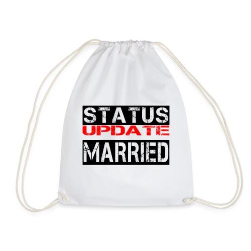 Statusupdate verheiratet Hochzeit Geschenk Idee - Turnbeutel