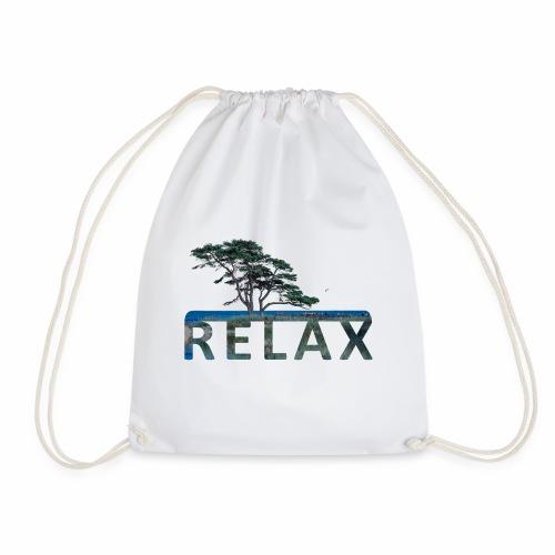 RELAX - unterm Baum am Strand - Turnbeutel