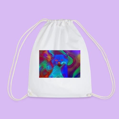 Gattino con effetti neon surreali - Sacca sportiva