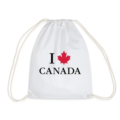 I love Canada Ahornblatt Kanada Vancouver Ottawa - Turnbeutel
