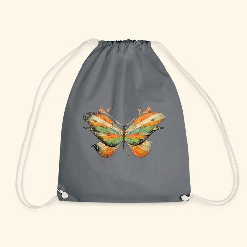 grande farfalla colorata - Sacca sportiva