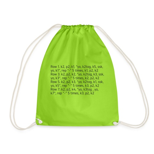 Knit Talk, dark - Drawstring Bag