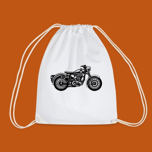 Motorrad / Classic Motorcycle 04_schwarz - Turnbeutel