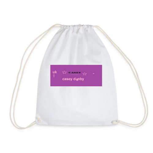 casey first merch :O - Drawstring Bag