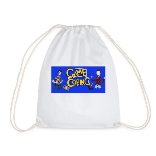 Game Coping Happy Banner - Drawstring Bag