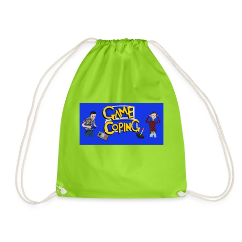 Game Coping Angry Banner - Drawstring Bag