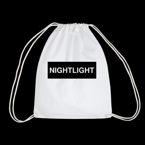 NIGHTLIGHT BOX LOGO (NIGHT) - Drawstring Bag