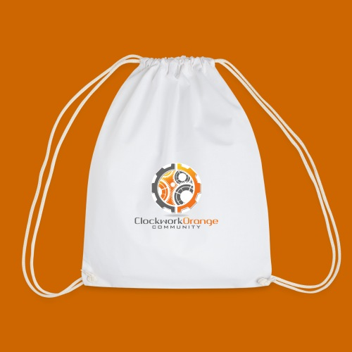 Clockwork-Orange Community Logo mit Schrift - Turnbeutel