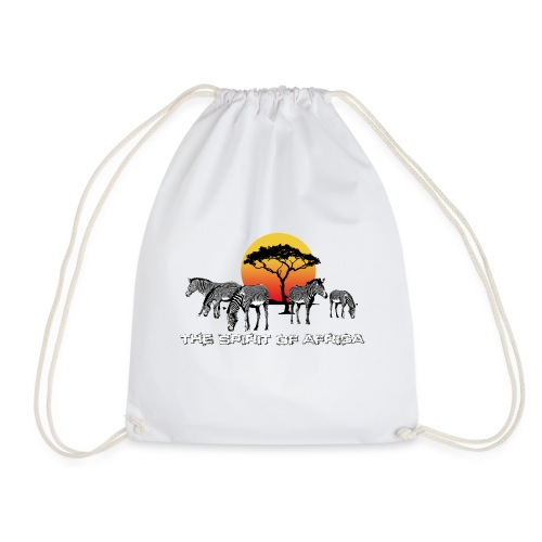 Spirit of Africa Zebra Afrika Sonne Savanne Safari - Drawstring Bag